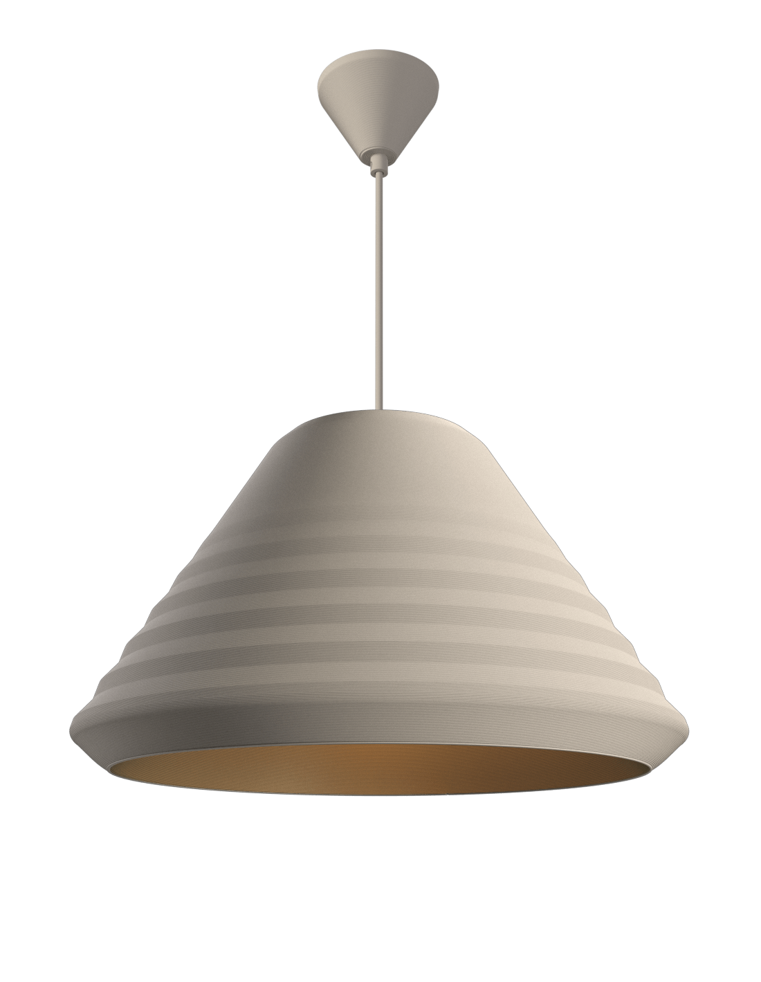 Double Cone Pendant Satin white