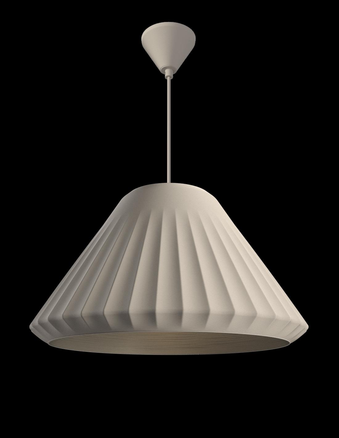 Double Cone Pendant Satin white