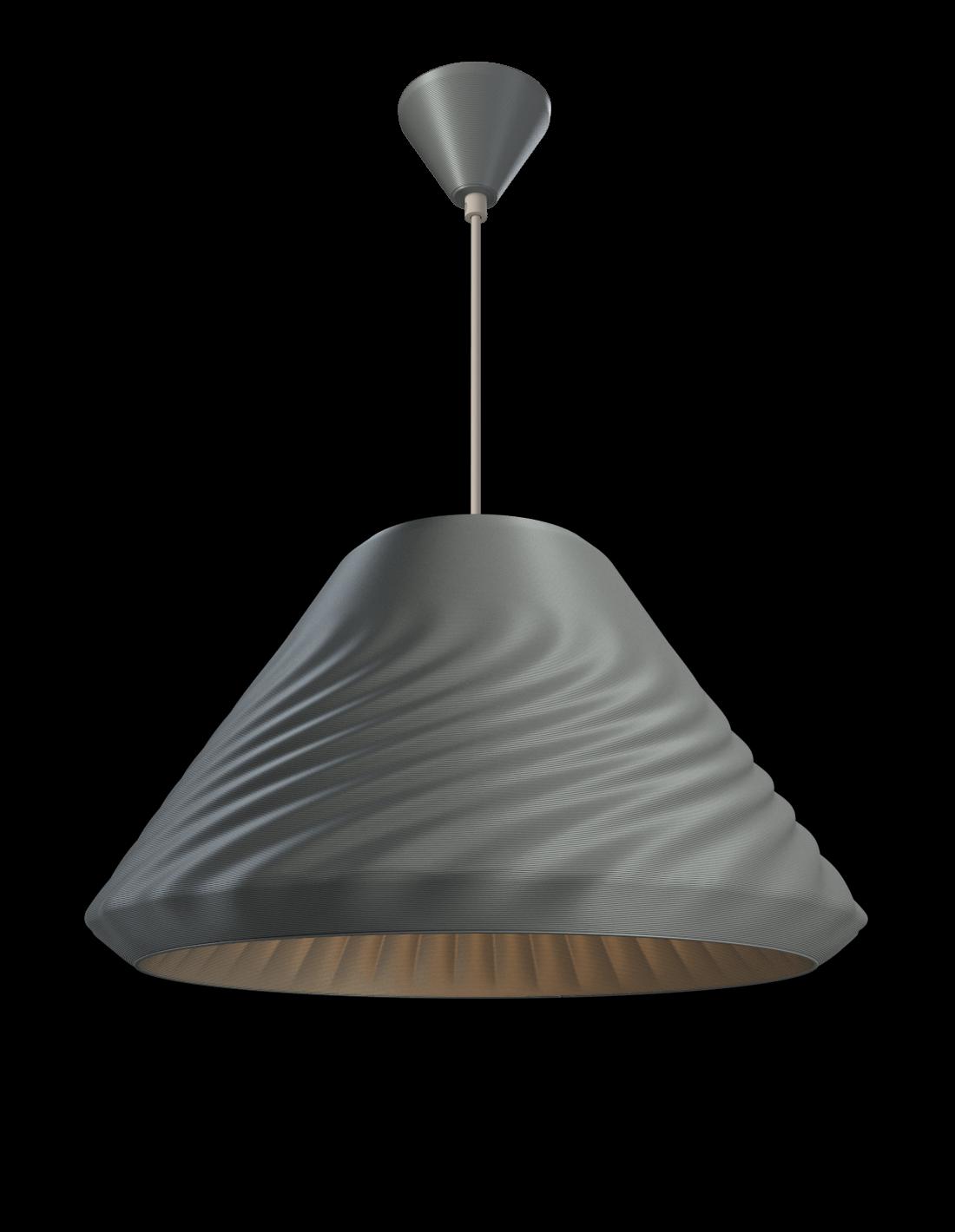 Double Cone Hanglamp Metallic blue
