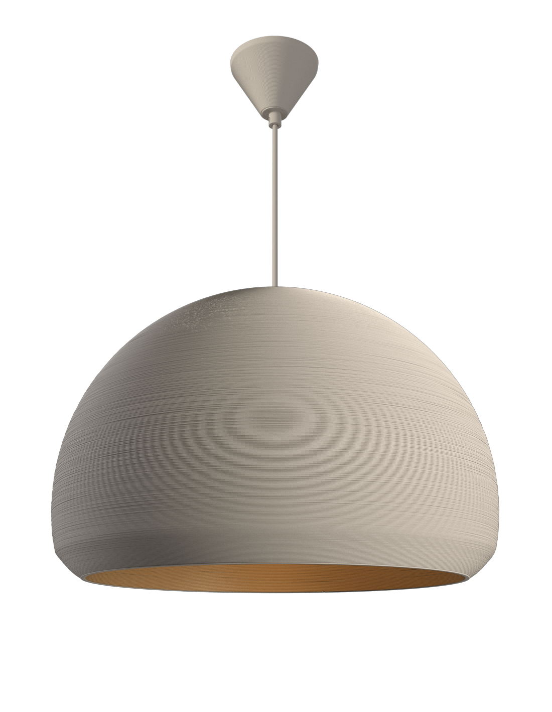 Double Dome Pendant Satin white
