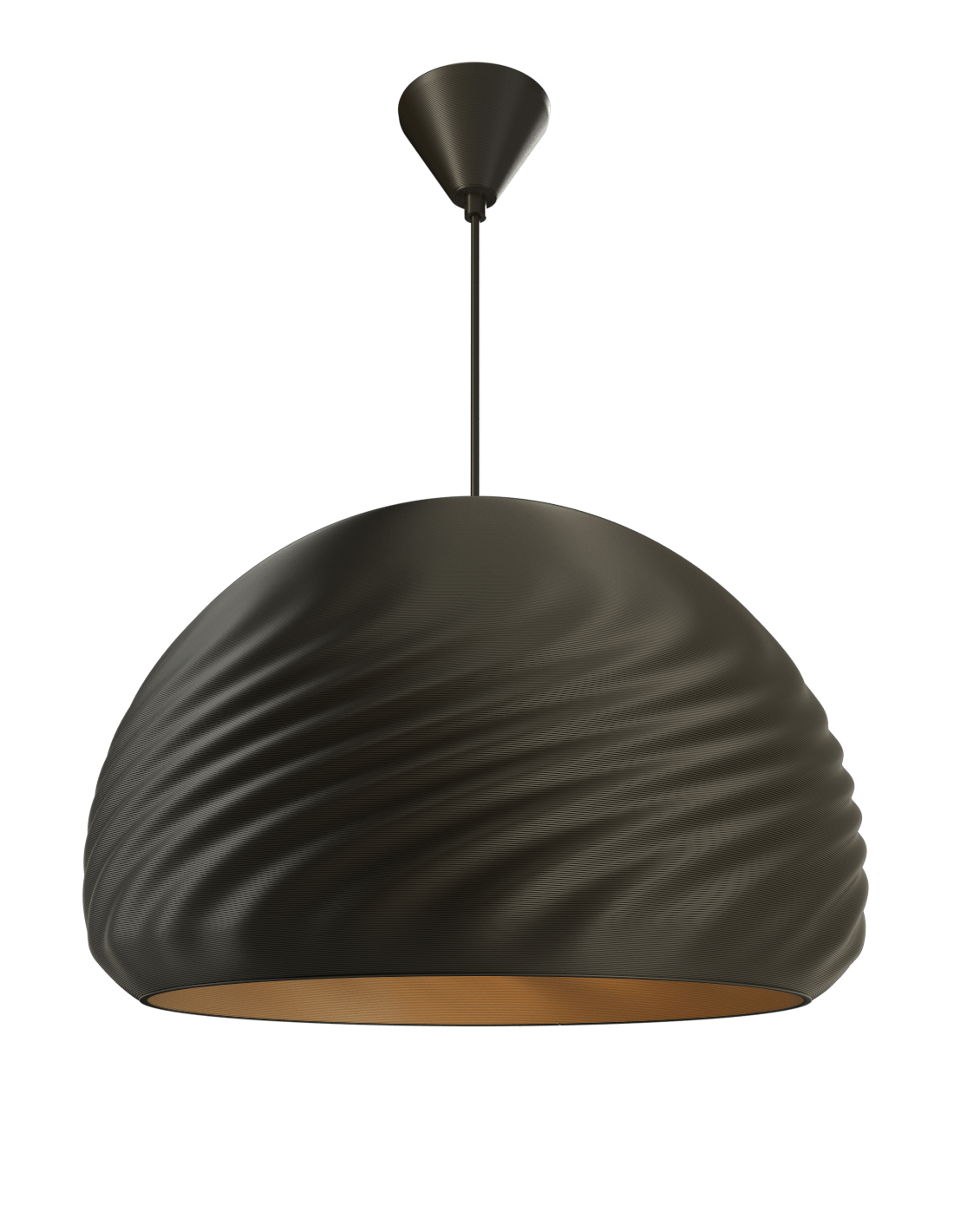 Double Dome Pendant Satin black