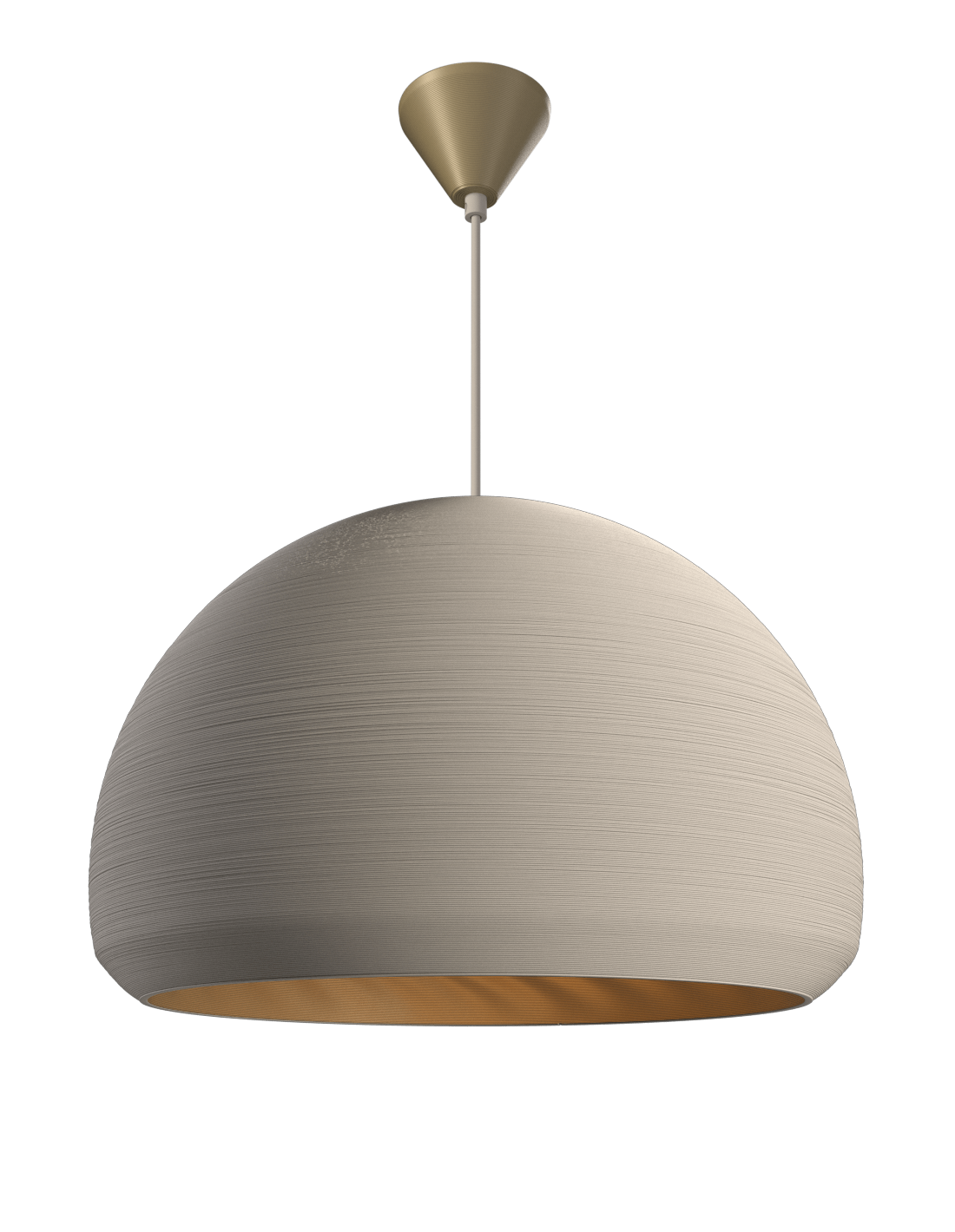 Double Dome Pendant Satin white